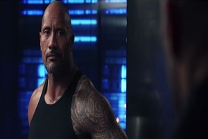 Actor Dwayne Johnson in The Fate of the Furious Film HD Wallpaper