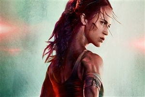 Alicia Vikander as Lara Croft in Tomb Raider Movie Wallpaper