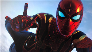 Iron Spider Man Flying 4K Pic Download