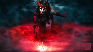Scarlet Witch Superhero 4K Wallpaper