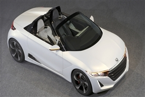 New 2015 Honda S660 Convertible Two Seater White Concept Car HD Wallpaper