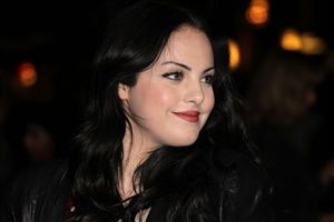 Beautiful Elizabeth Gillies with Red Lips and Cute Smile HD Wallpaper