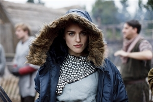Beautiful Irish Actress and Model Katie McGrath in Cap Coat HD Photo