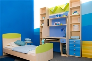 Beautiful Child Room Interiors in Blue Theme Photo