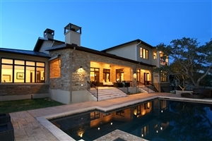 Luxury Home at Night Photo