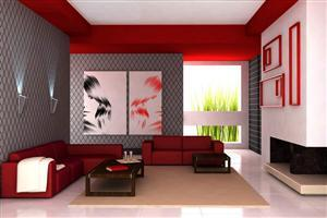Red Interior Design Decorating Room
