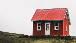 Red Small House 4K Photo
