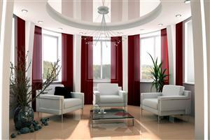 Red and White Home Interior