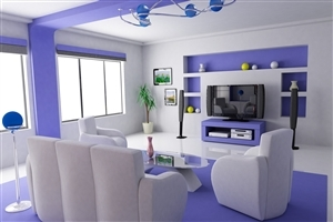 Simply Amazing Blue and White Home Interior Wallpapers