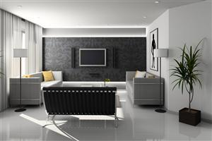 White and Gray Theme Home Interior