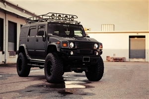 Black Hummer Car HD Wallpaper