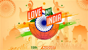 15th August Independence Day Love My India 5K Photo