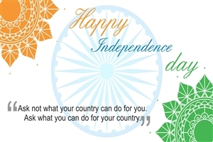 Happy Independence Day Greetings Wishes Quote HD Image Background