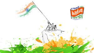 Happy Independence Day India 5K Wallpaper