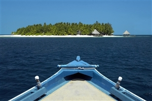 Amazing View of Island from Boat Image