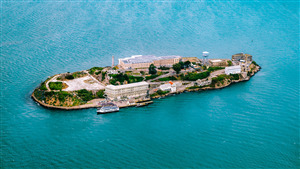 Beautiful Alcatraz Island in California US Tourist Place 5K Wallpaper