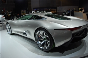 Jaguar CX75 Hybrid Concept Car Rear Side Luxury Wallpaper
