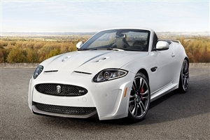 Jaguar Coupe XKR S White 2013 Luxury Convertible Car Wallpaper