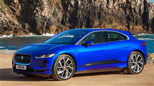 Jaguar IPace Blue Car