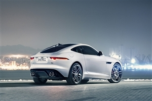 White Jaguar F Type Car Wallpaper
