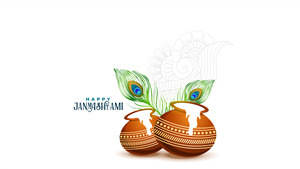 Happy Krishna Janmashtami 4K Wallpaper