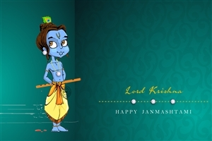 Lord Krishna Janmashtami HD Wallpaper
