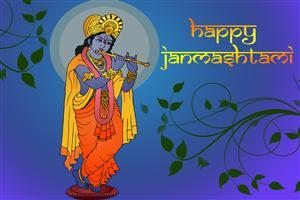 Happy Janmashtami Krishna Wallpaper Download