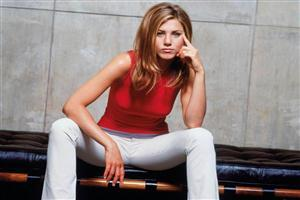 Jennifer Aniston in Red and Jeans