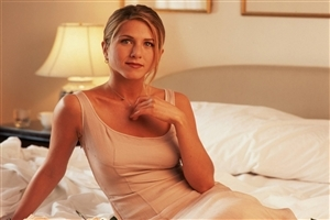 Jennifer Aniston on Bed Photo