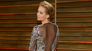 Jennifer Lawrence in Glass Dress Photo