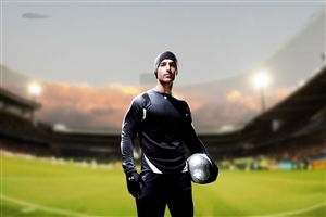 John Abraham in Football Ground Film Photo