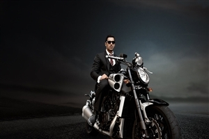 John Abraham on Bike HD Photo