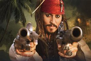 Captain Jack Sparrow with Gun