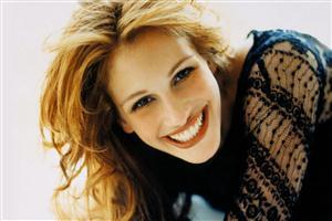 Julia Roberts in Black Top with Smile