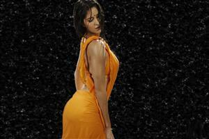 Hot Katrina Kaif in Orange Saree