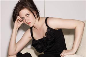 Cute Kristen Stewart in Black Dress