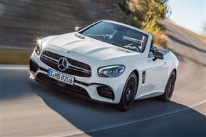 2018 Mercedes Benz SL Class White Sports Car
