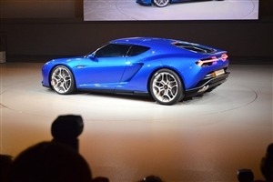 Famous Lamborghini Asterion Blue Car Wallpaper