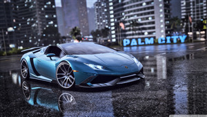 Lamborghini Blue Car