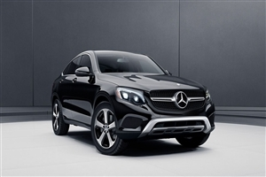 Mercedes Benz GLC Coupe Black SUV Car