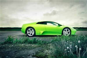 Wonderful Green Lamborghini Car Wallpaper