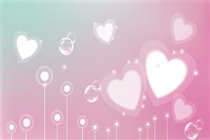 Beautiful Pink Heart Background