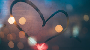 Creative Heart in Bokeh Abstract 5K Wallpaper