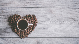 Cup in Creative Coffee Heart 4K Love Wallpaper