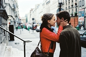 Girl and Boy doing Romance in City Street Romantic Love Photos