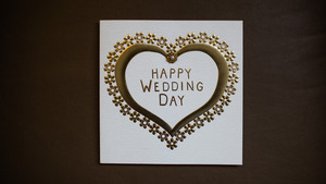 Happy Wedding Day 5K Wallpaper
