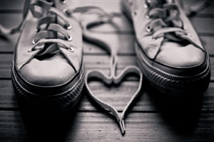 Heart Shape By Shoe Laces Wallpaper