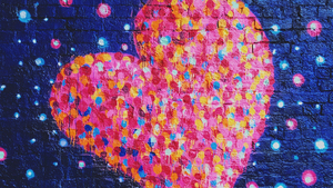 Pink Colorful Heart Art