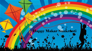 Happy Makar Sankranti 5K Wallpaper