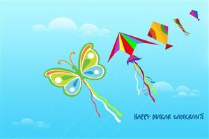 Happy Makar Sankranti Kites Wallpaper